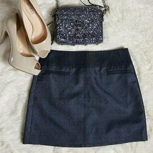 Loft Blue Shimmery Mini Skirt